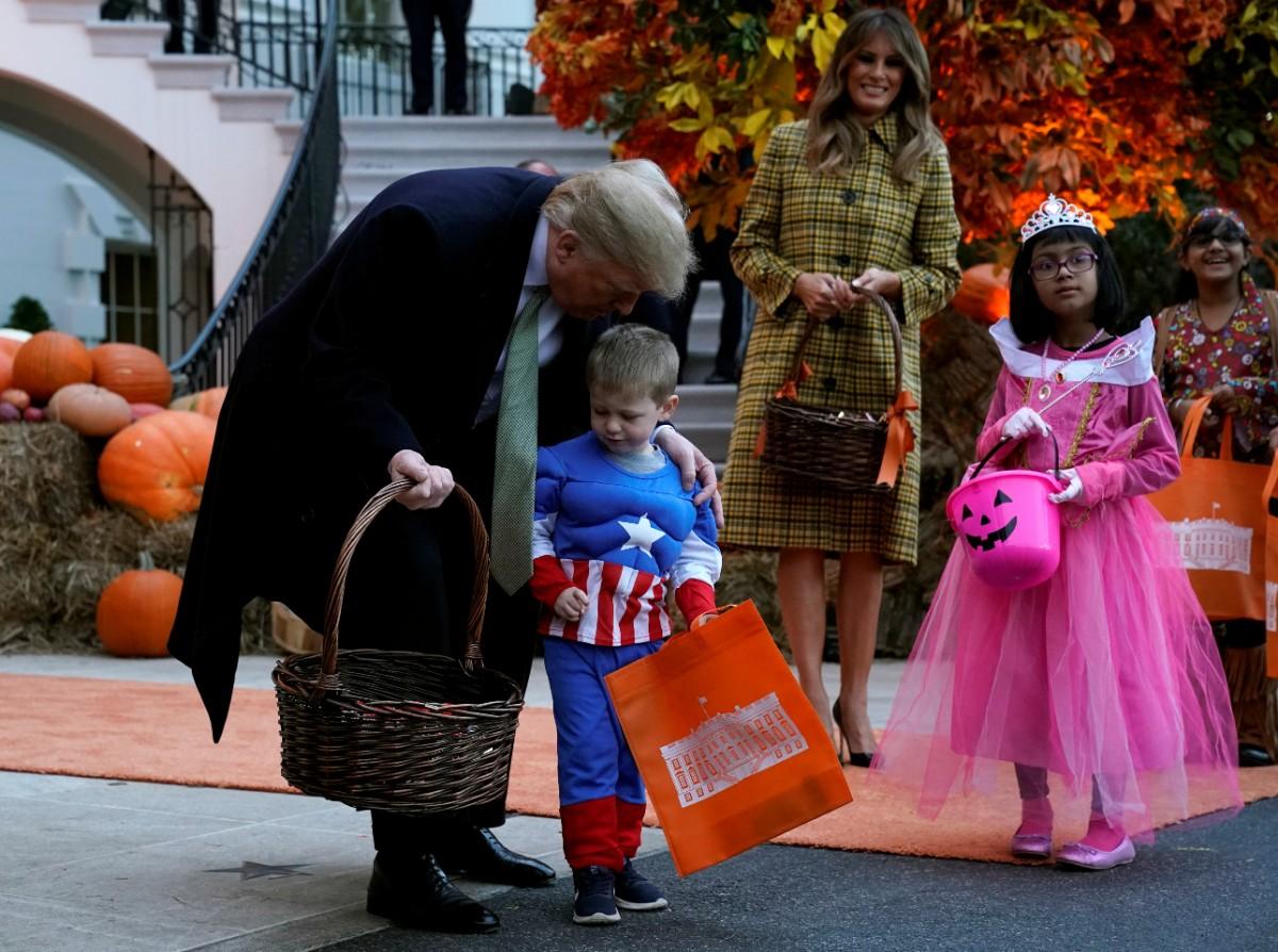 חגיגות האלווין בבית הלבן / צילום: רויטרס