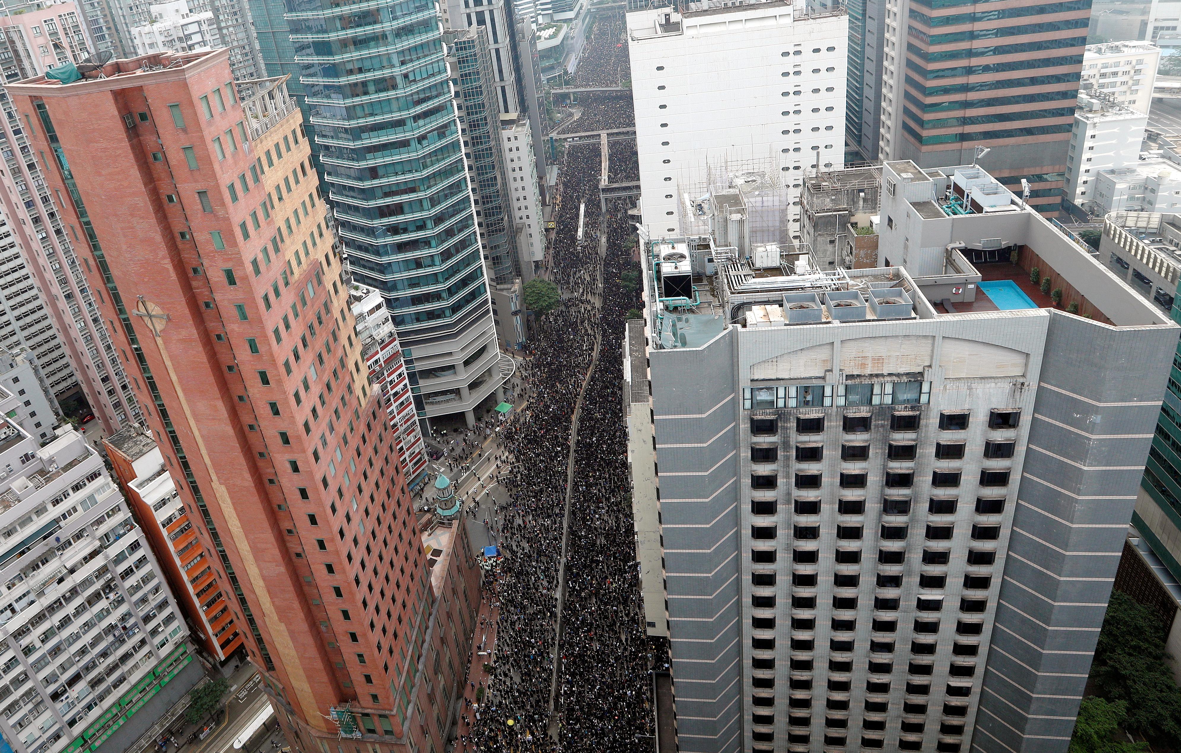 הפגנת ענק נגד מנהיגת הונג קונג / צילום: צילום: Jorge Silva, רויטרס