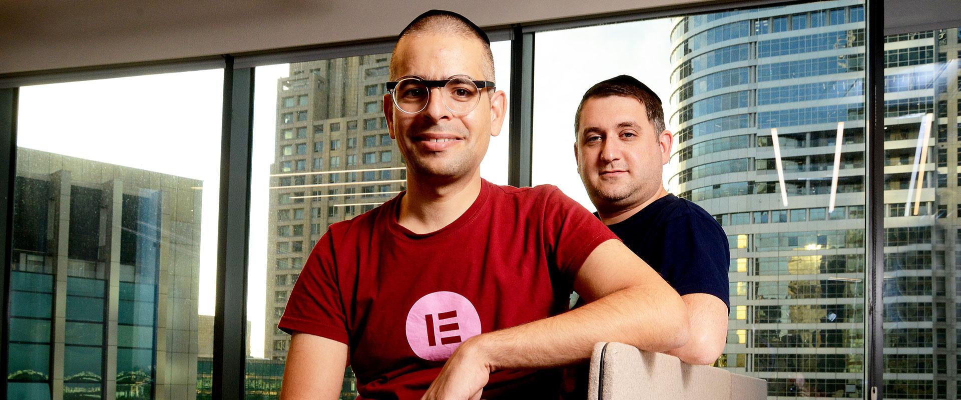 10 הסטארט-אפים המבטיחים 2020 - יוני לוקסנבורג ואריאל קליקשטיין, מייסדי Elementor / צילום: איל יצהר, גלובס