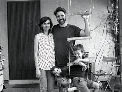משפחת בן צבי / צילום: פולי בלום