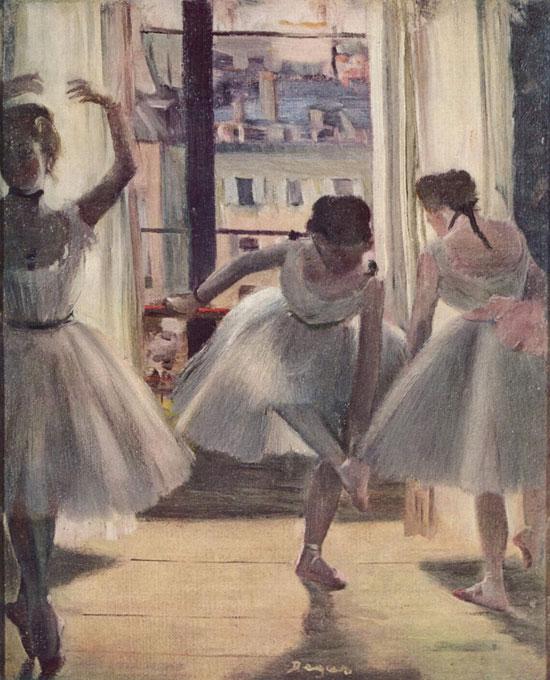 'שלטש רקדניות באולם חזרות', דגה, 1880