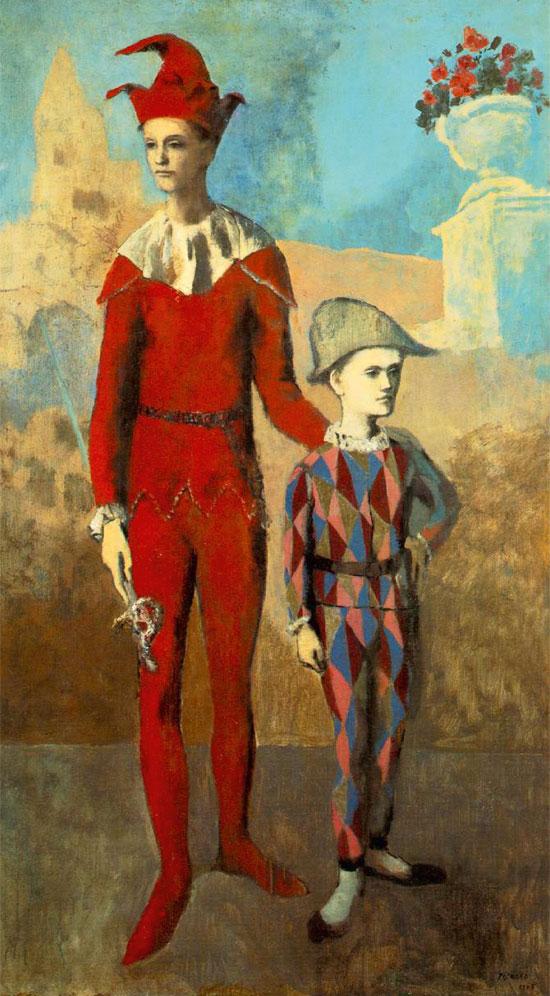 'הרלקין צעיר ואקרובטי', פיקאסו, 1905