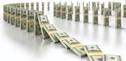 אפקט הדומינו קריסה נפילה דולרים  / צלם: טינקסטוק