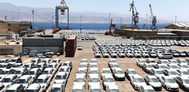 מכוניות בנמל אשדוד / צילום: תמר מצפי