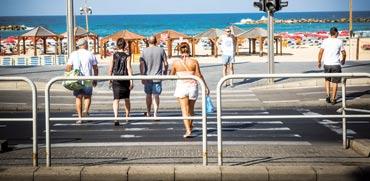 תיירים בתל אביב./ צילום: שלומי יוסף