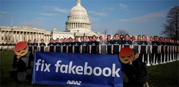 מחאה מחוץ לגבעת הקפיטול נגד פייסבוק / צילום: Aaron Bernstein, רויטרס