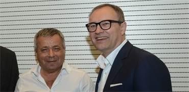 """מנכ""""ל IFF אנדריאס פיביג ומנכ""""ל פרוטרום אורי יהודאי / צילום: איל יצהר"""