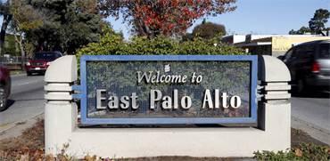שלט של העיירה פאלו אלטו-מזרח / צילום: רויטרס