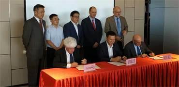 חתימת הסכם שיתוף הפעולה בין מכון וולקני לנציגי החברות החקלאות של דרום סין