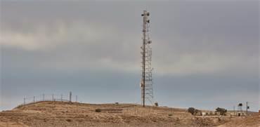 אנטנת סלולר במצפה רמון / צילום: שאטרסטוק