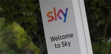 כניסה לאולפני סקיי בלונדון / צילום: רויטרס
