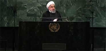 """חסן רוחאני, נשיא איראן, בעצרת האו""""ם / צילום: Reuters, Carlo Allegri"""