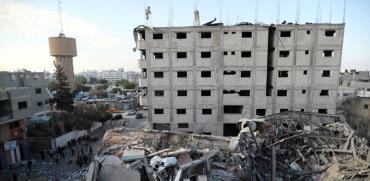 הריסות תחנת הטלוויזיה של החמאס בעזה / צילום: רויטרס Suhaib Salem