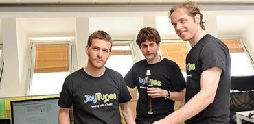 המייסדים של JoyTunes / צילום: תמר מצפי