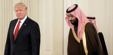 הנשיא טראמפ והנסיך בן סלמן/  צילום: רויטרס Kevin Lamarque