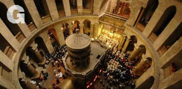 טקס שבת האור האורתודוקסי בכנסיית הקבר / צילום: יותם יעקבסון