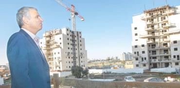 משה כחלון בפרויקט מחיר למשתכן בלוד / צילום: יוסי אלוני