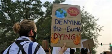 מחאת האקלים / צילום: Cheena Kapoor, רויטרס