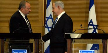 נתניהו וליברמן לאחר הצטרפות ישראל ביתנו לקואליציה/ צילום: חיים צח לעמ