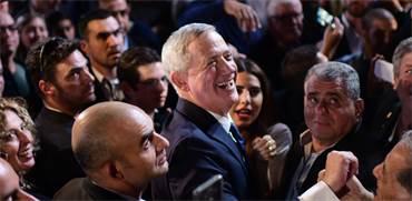 בני גנץ באירוע הבחירות הראשון שלו / צילום: שלומי יוסף