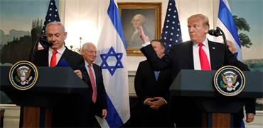 דונלד טראמפ ובנימין נתניהו בבית הלבן היום / צילום: Carlos Barria, רויטרס