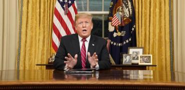 נשיא טראמפ בנאום הטלוויזיה / צילום: רויטרס, Carlos Barria