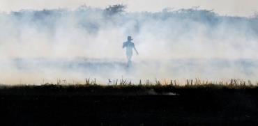קרקעות שרופות וענני עשן בצפון הודו. / צילום: רויטרס - Amit Dave