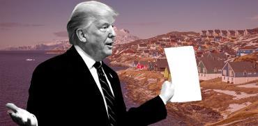 """טראמפ מחמם את שוק הנדל""""ן בגרינלנד / צילומים: רויטרס, shutterstock, עיבוד: טלי בוגדנובסקי"""