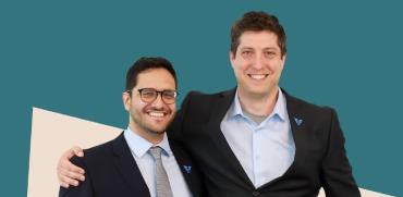 """וד""""ר דוד גולן (מימין) וד""""ר כריס מנסי, מייסדי החברה VIZ.ai / צילום: יח""""צ"""