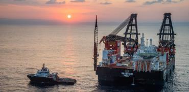 """מאגר הגז הטבעי """"לוויתן"""" / צילום: אלבטרוס"""