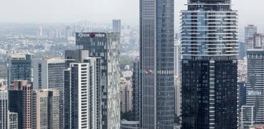 מבט אווירי על מתחם הבורסה ברמת גן / צילום: shutterstock, שאטרסטוק