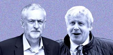 בוריס ג'ונסון מנהיג השמרנים וג'רמי קורבין מנהיג הלייבור / צילום: shutterstock, שאטרסטוק