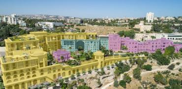 """מלון הר ציון בירושלים לאחר ההרחבה המתוכננת  / הדמיה: לאה רובננקו אדריכלים בע""""מ, View Point"""