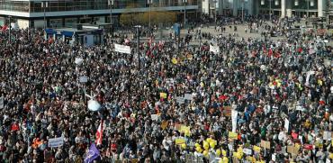 הפגנה נגד עליית מחירי הדיור בברלין / צילום: Fabrizio Bensch, רויטרס