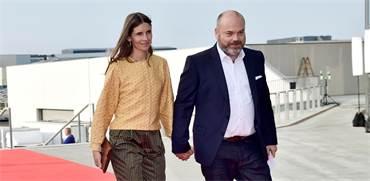 אנדרס הולך פובלסן ואישתו אן / צילום: Ritzau Scanpix/Tariq Mikkel Khan via REUTERS