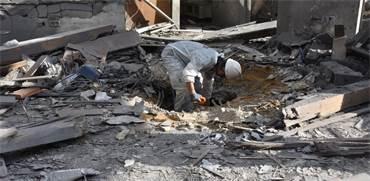 חבלנים בבית שנפגע באזור השרון / צילום: דוברות המשטרה