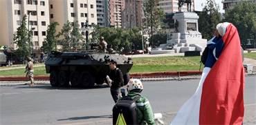 כוחות צבא ברחובות צ'ילה בעקבות הפגנות / צילום: שני אשכנזי, גלובס