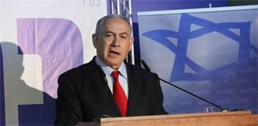 בנימין נתניהו נואם במוען ראש הממשלה / צילום: יוסי זמיר