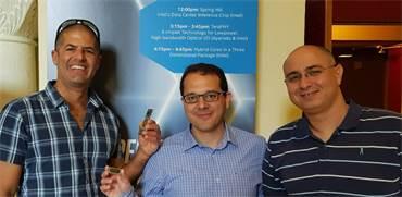 """צוות הפיתוח של אורן גרשון: (מימין לשמאל) שחר איתן, מיכאל בכר וארנון פלג / צילום: אינטל, יח""""צ"""