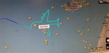 מסלול המטוס של אל על / הדמיה: filghtradar 24