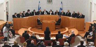 אולם בית המשפט העליון./ צילום:ראובן קסטרו