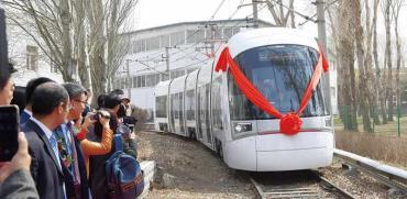 """השקת הרכבת הסינית של הקו האדום בסין בנוכחות נציגי משרד התחבורה / צילום: יח""""צ"""