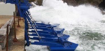 """פרויקט אנרגיה של חברת Eco Wave Power להפקת חשמל מגלי הים בגיברלטר  / צילום: יח""""צ"""