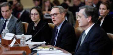 ארבעת הפרופסורים שהעידו בשימוע על ההדחה / צילום: רויטרס - Mike Segar
