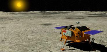 הדמיה תלת ממדית של גשושית סינית בצד הרחוק של הירח / צילום:  Shutterstock/ א.ס.א.פ קרייטיב