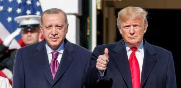 הנשיא דונלד טראמפ ונשיא טורקיה רג'פ טאיפ ארדואן / צילום: רויטרס