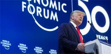 דונלד טראמפ נואם בפורום הכלכלי העולמי בדאבוס / צילום: Jonathan Ernst, רויטרס