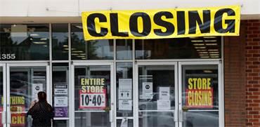 """חנות כלבו בארה""""ב שסגרה את שעריה בשל המשבר הכלכלי בעקבות המגפה / צילום: Jeff Roberson, Associated Press"""