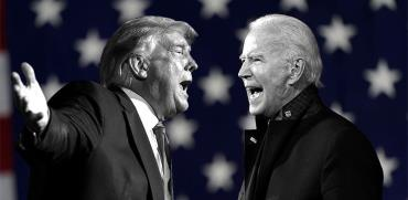 טראמפ מול טראמפ. הבחירות עוד שבועיים בלבד. צילומים: Associated Press / עיבוד: טלי בוגדנובסקי , גלובס