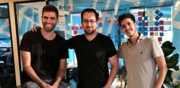 מייסדי החברה: גל רינגל (מימין), גל גולן וקובי ניסן / צילום: דניאל סינגר